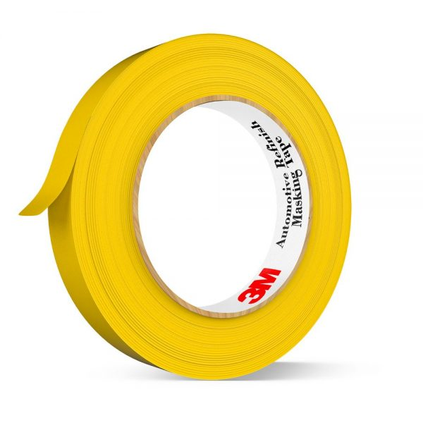 3M Automotive Refinish Masking Tape Yellow