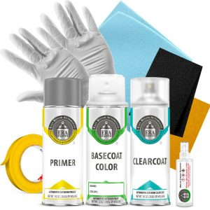 Automotive Spray Paint Clearcoat Primer and Basic Prep Kit