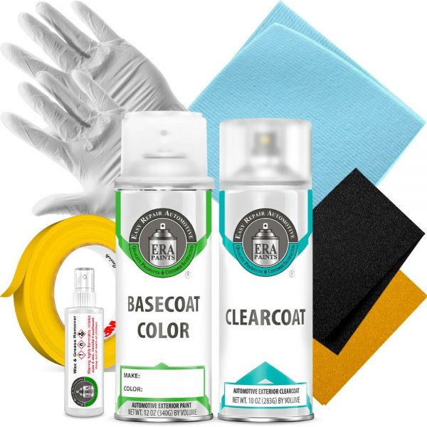 Automotive Spray Paint Clearcoat and Basic Prep Kit