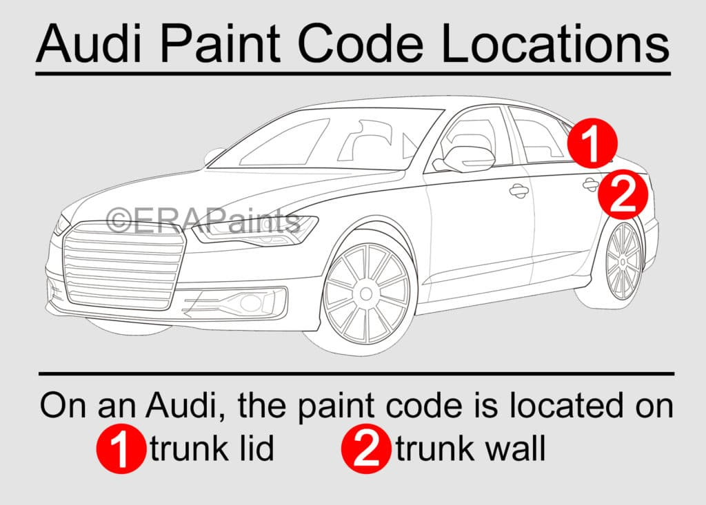 Audi Paint Code Location