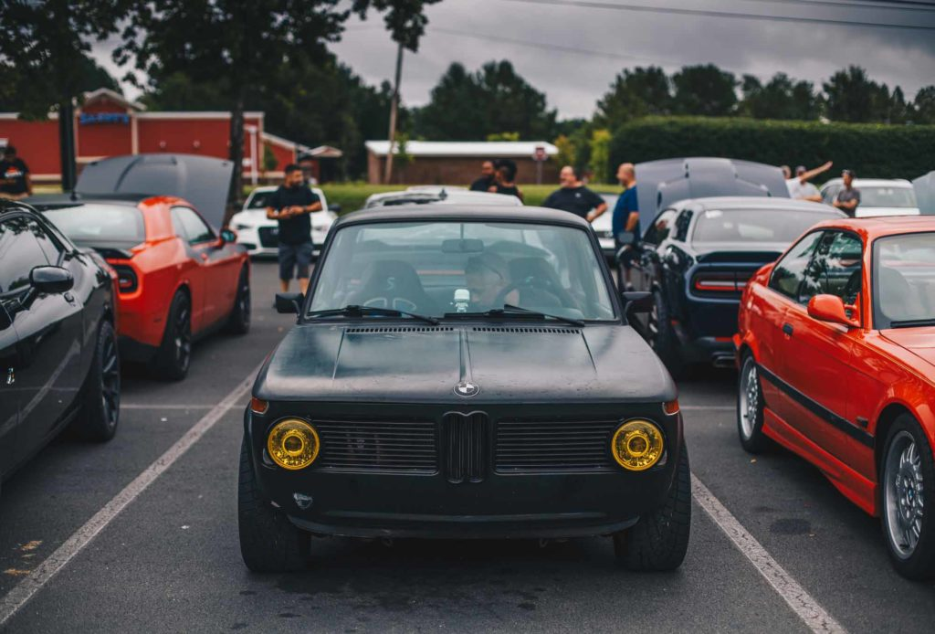 2002 BMW Black Car Show