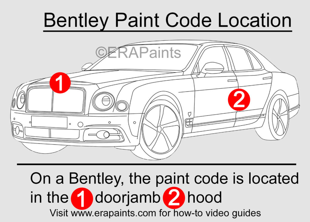 Bentley Paint Code Location
