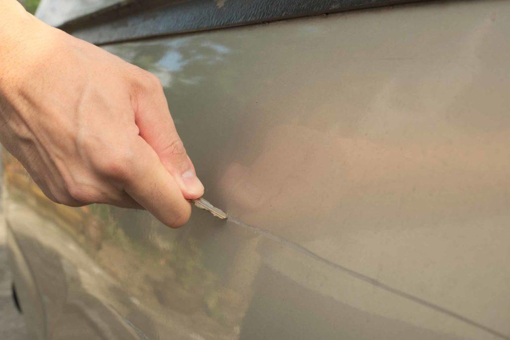 Dodge Paint Key Scratch