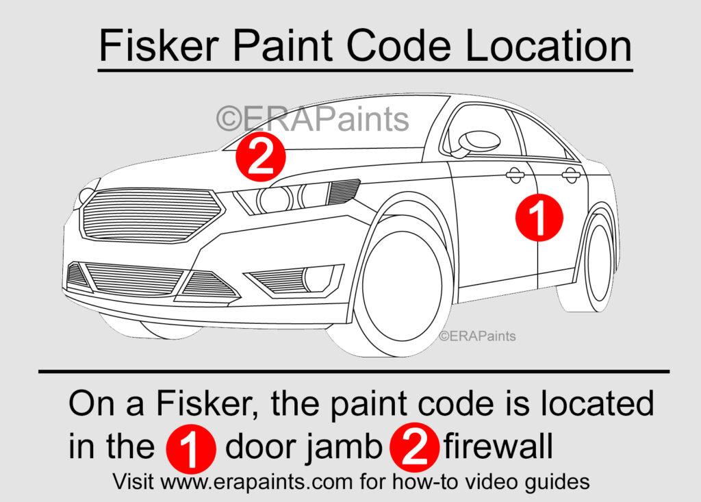 Fisker Paint Code Location