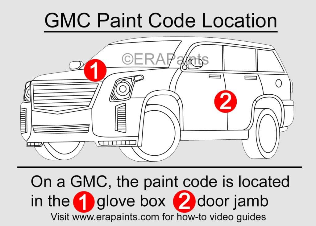 GMC Paint Code Location