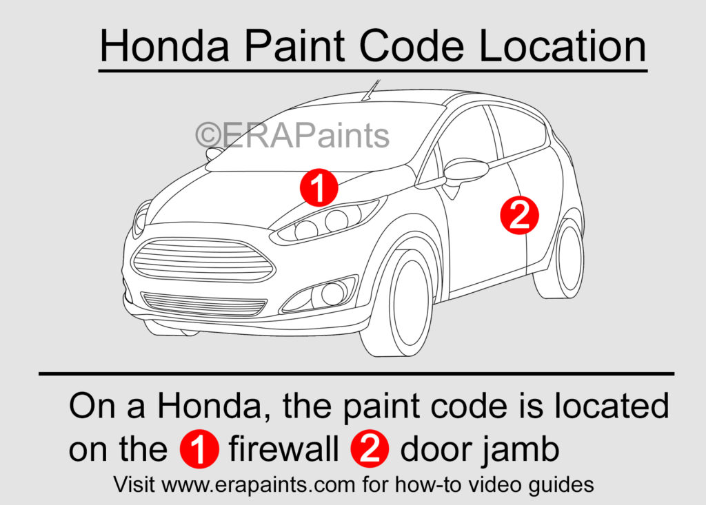 Honda Paint Code Location