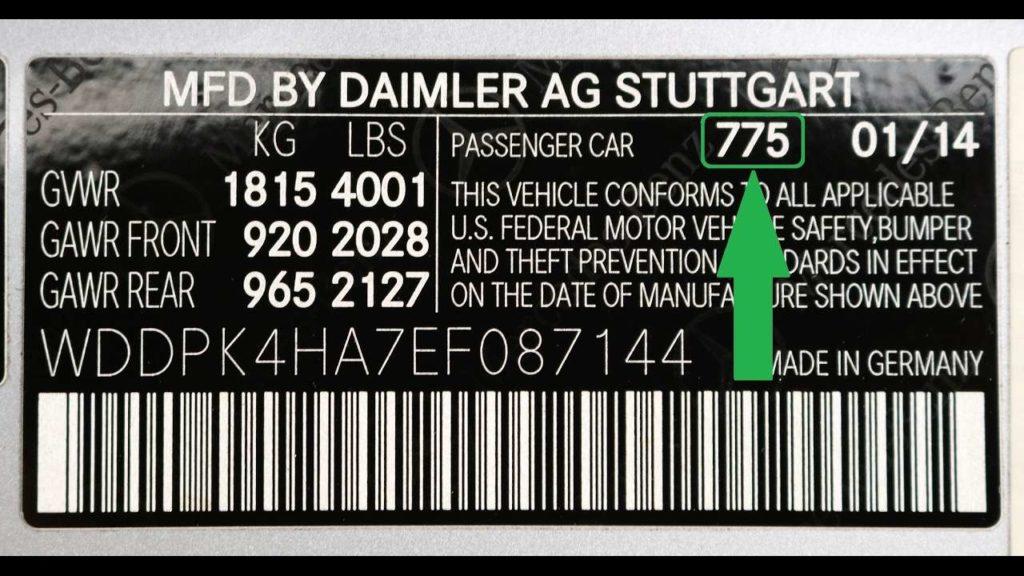 Mercedes Paint Code Location