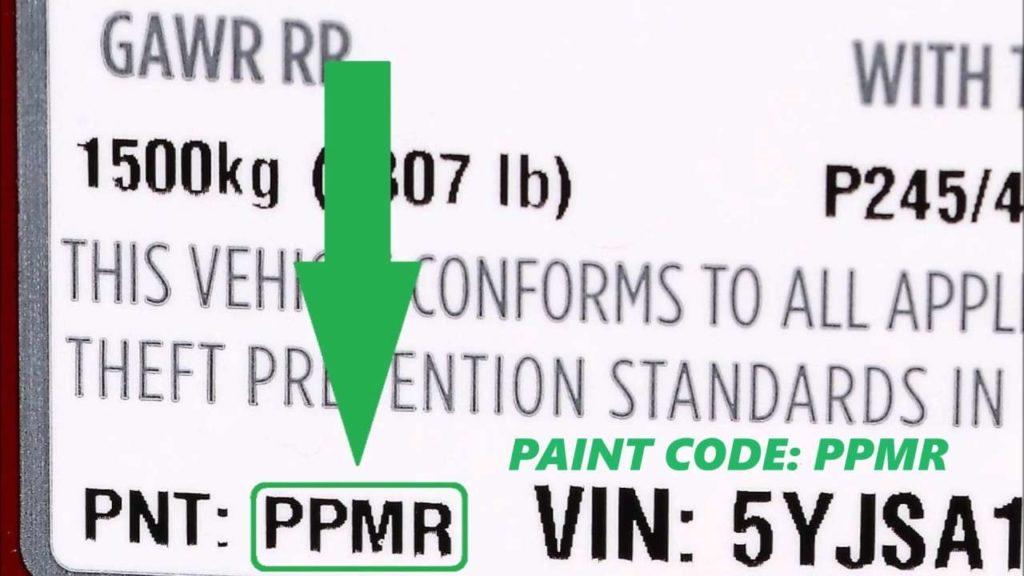 Tesla Paint Code Location