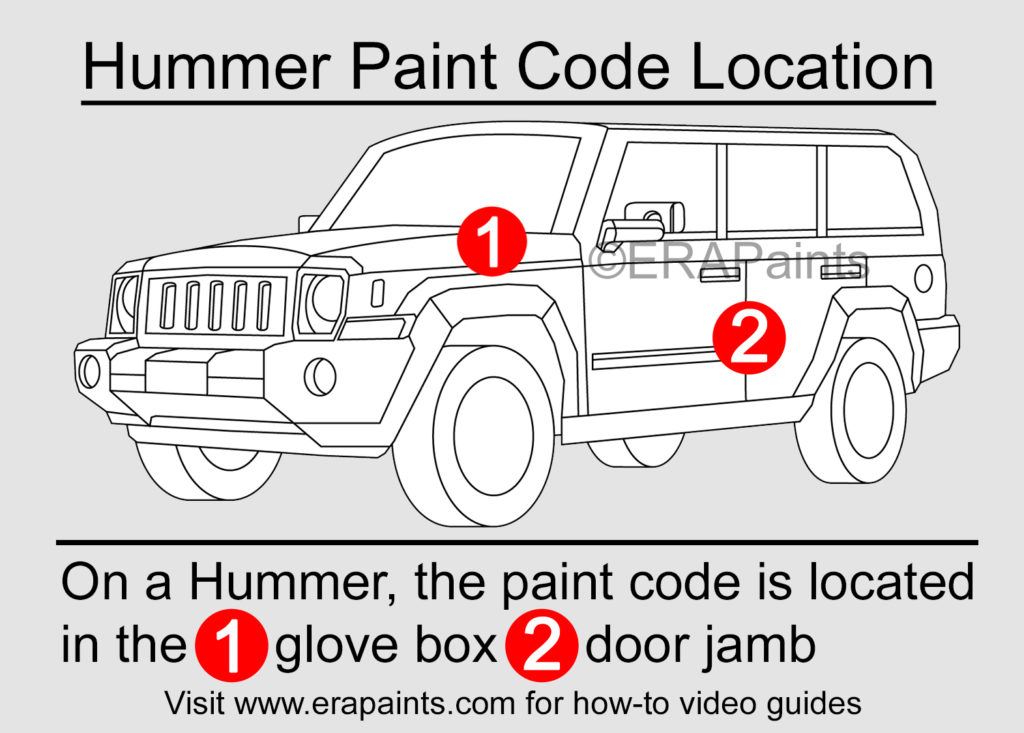 Hummer Paint Code Location