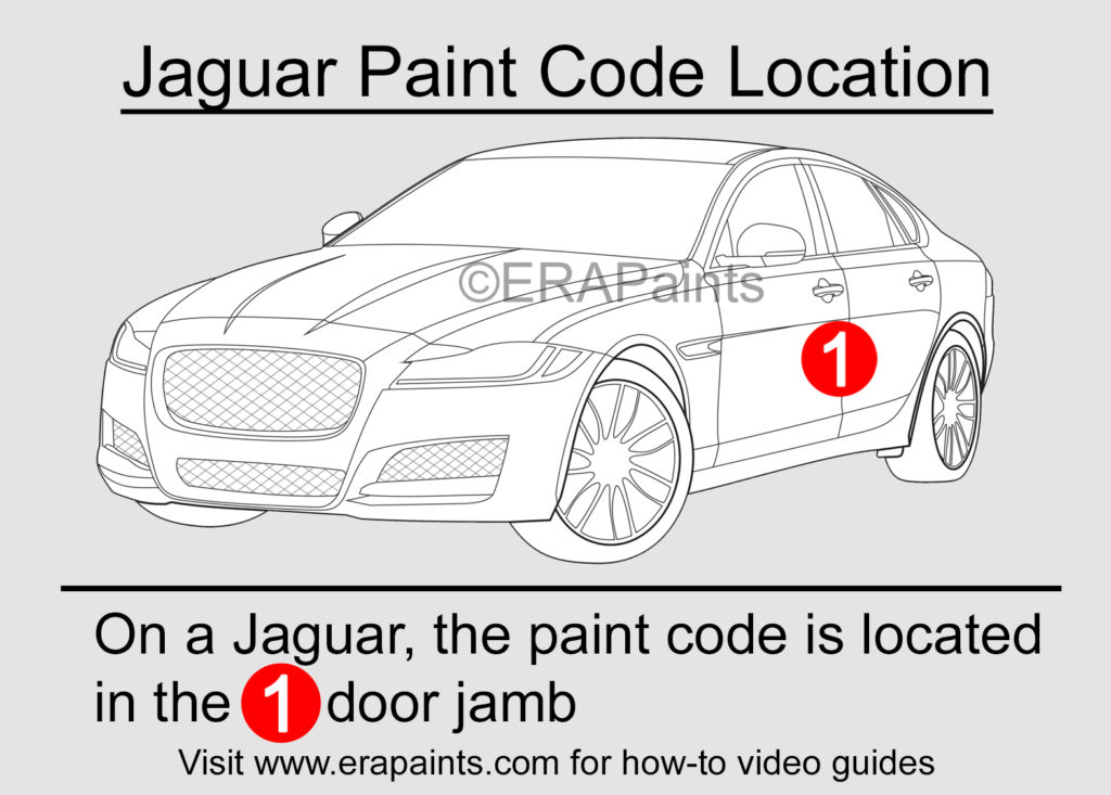Jaguar Paint Code Location