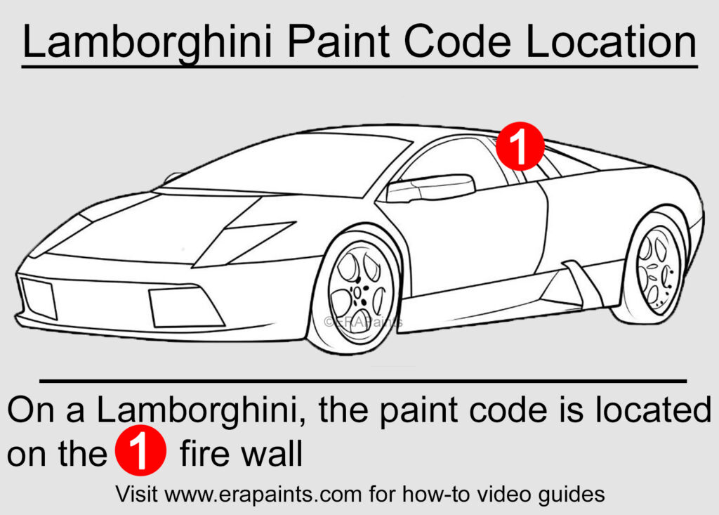Lamborghini Paint Code Location