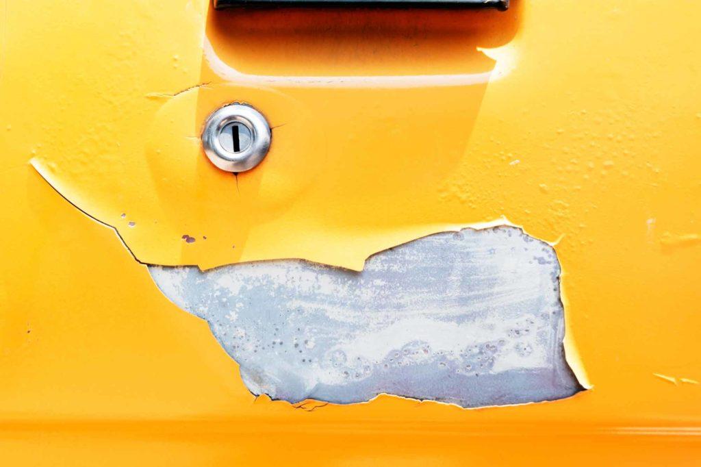 Land Rover Paint Damage