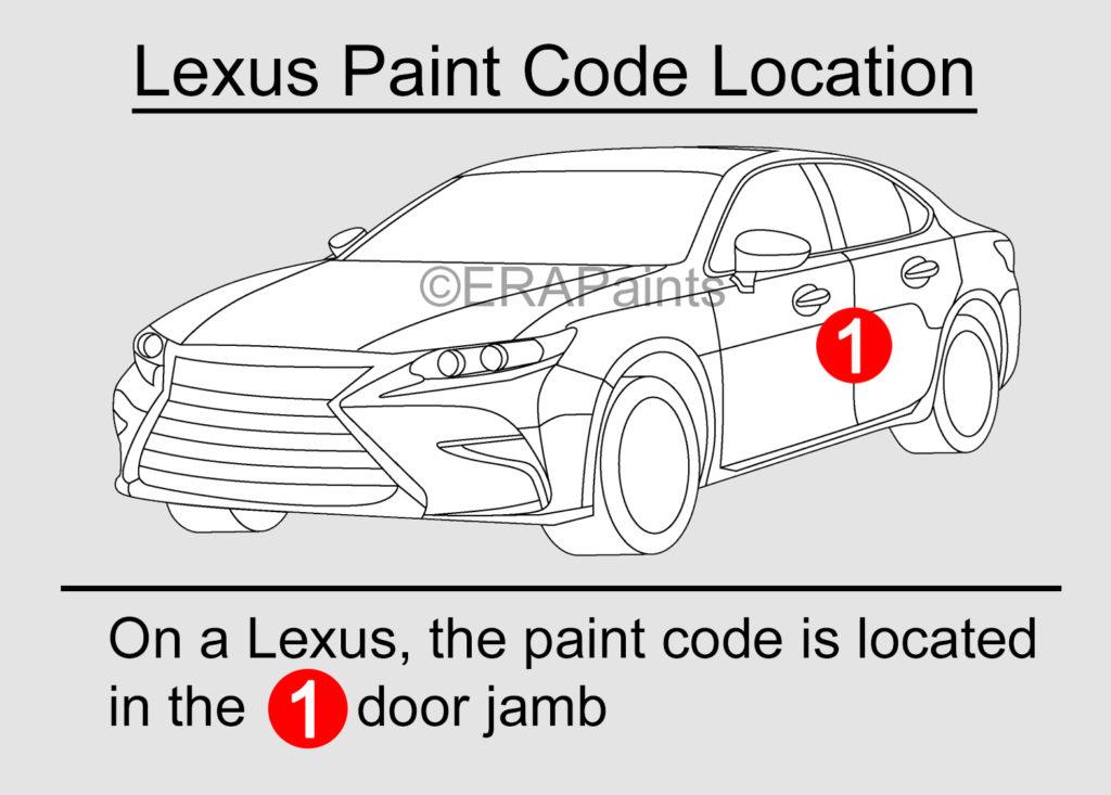 Lexus Paint Code Location
