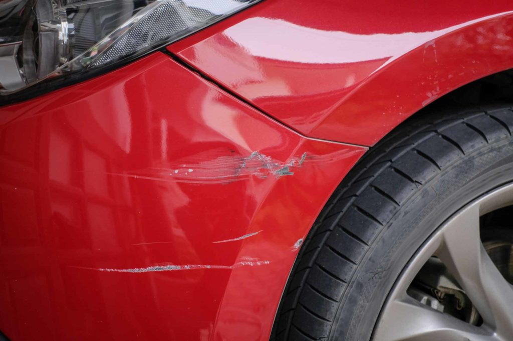 Toyota Fender Paint Damage