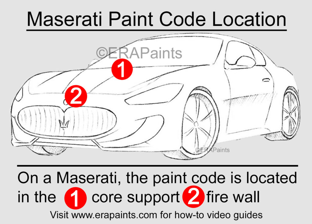 Maserati Paint Code Location