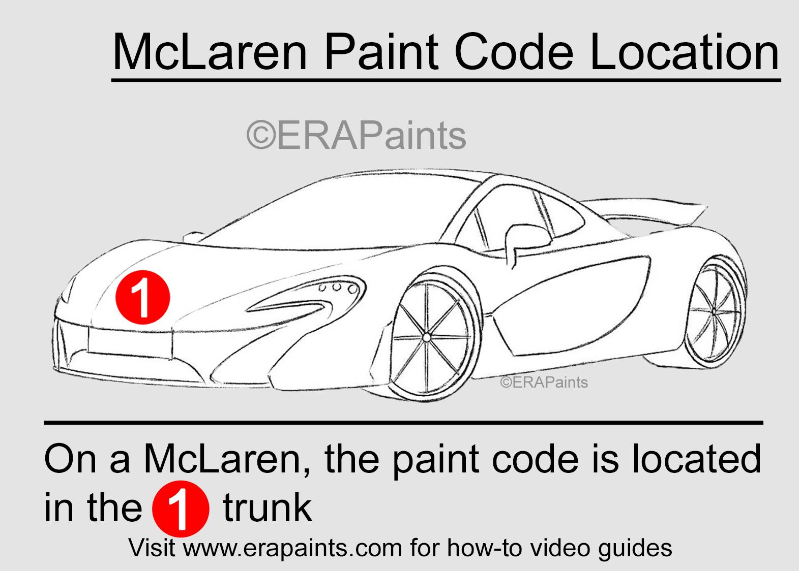 McLaren Paint Code Location