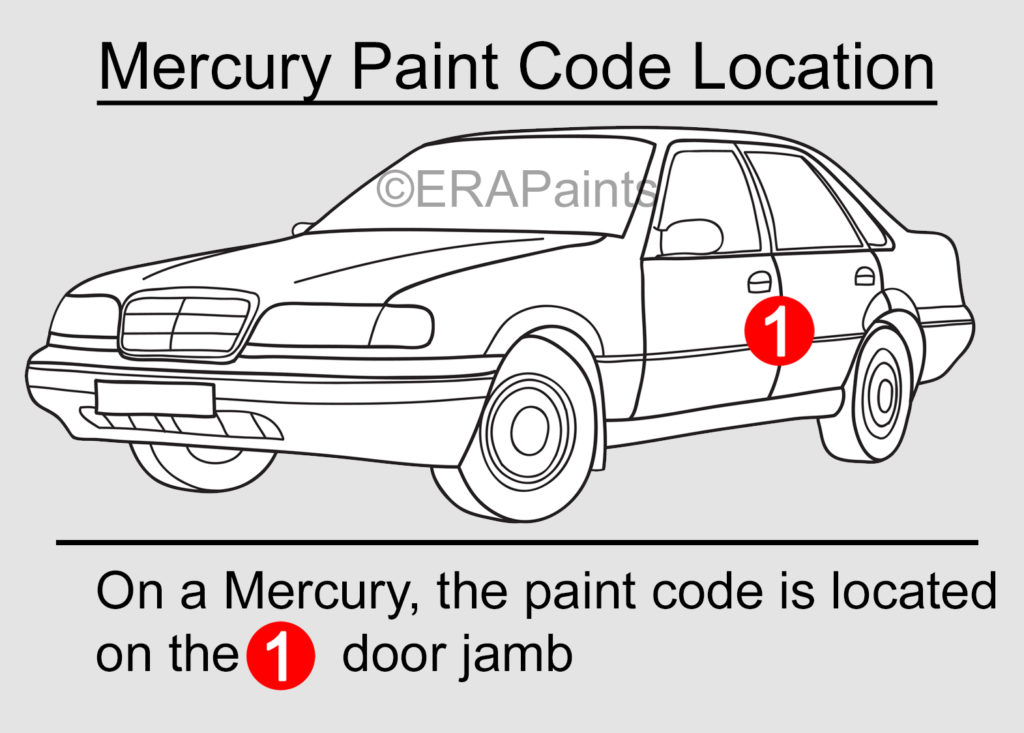Mercury Paint Code Location