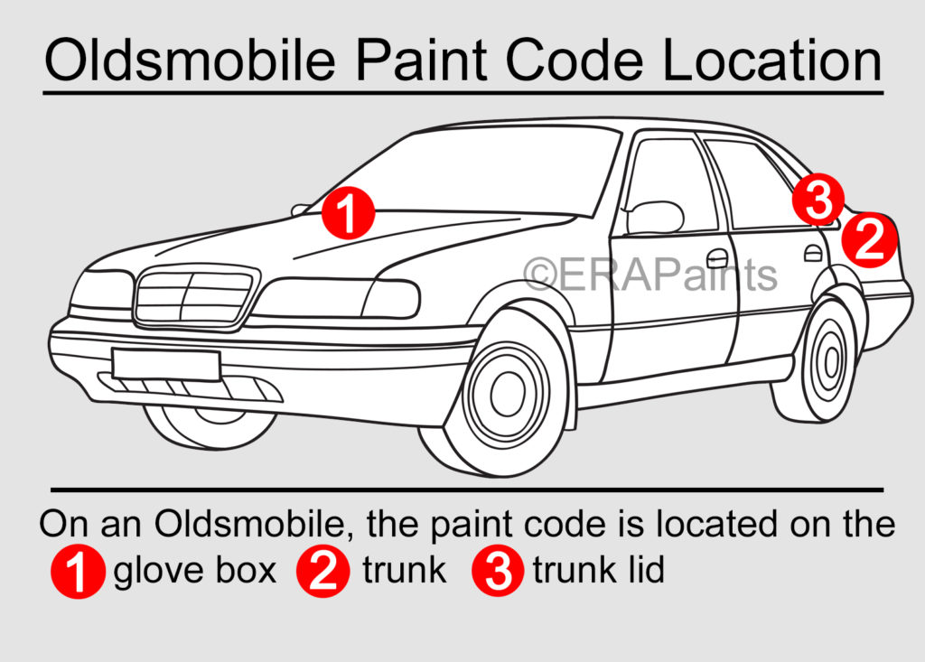 Oldsmobile Paint Code Location