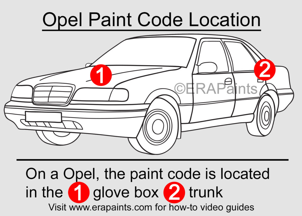 Opel Paint Code Location