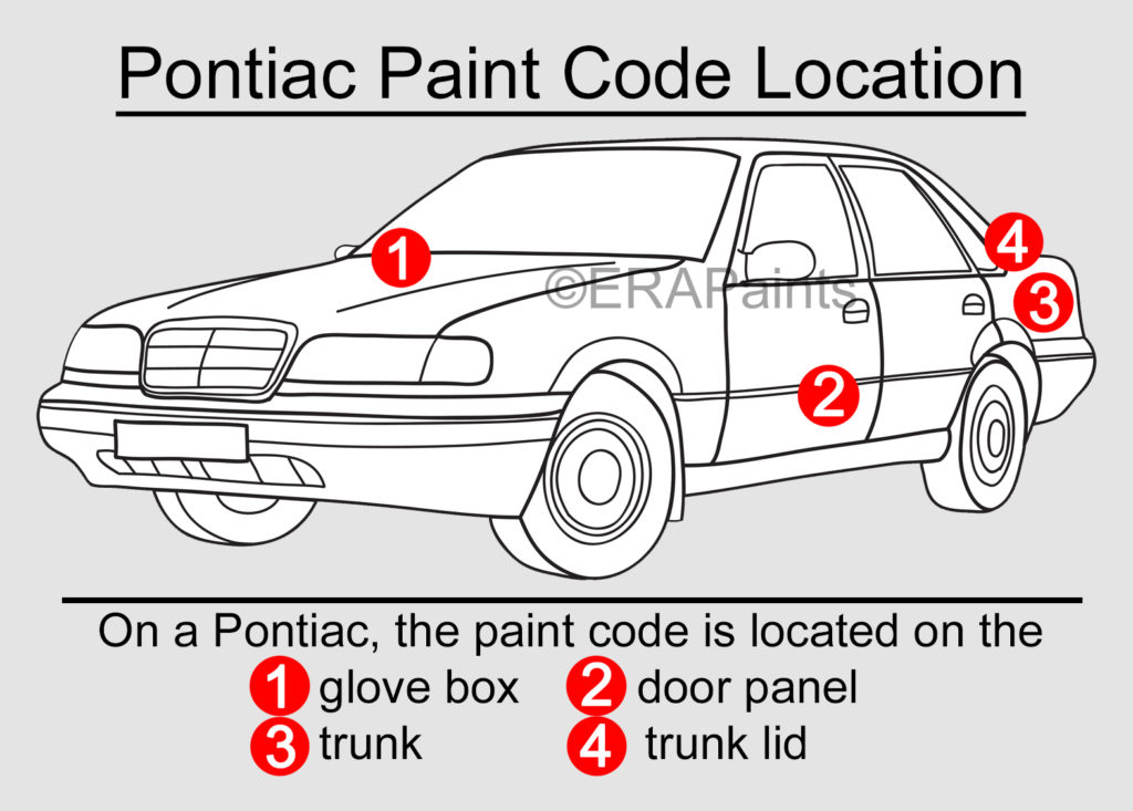 Pontiac Paint Code Location