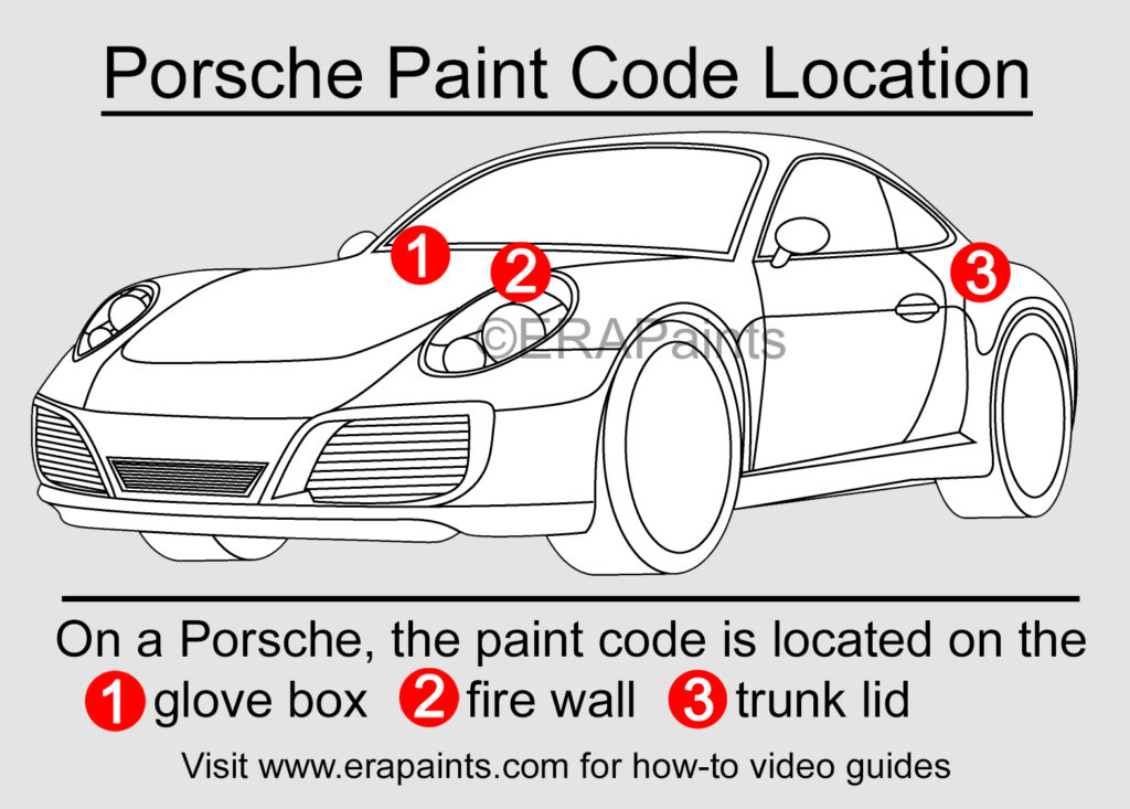 Porsche Paint Code Location
