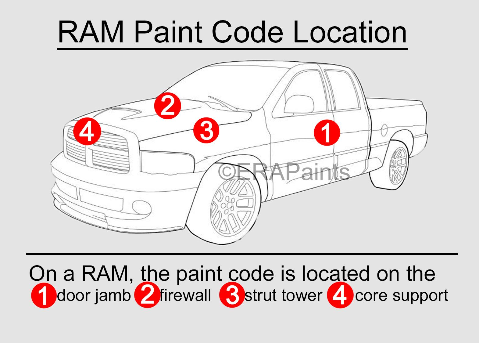 Dodge Ram Paint Code Location