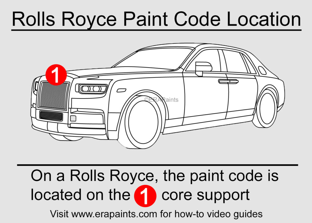 Rolls Royce Paint Code Location