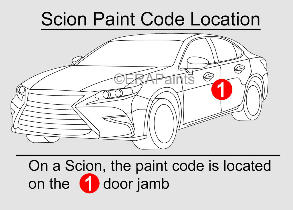 Scion Paint Code Location