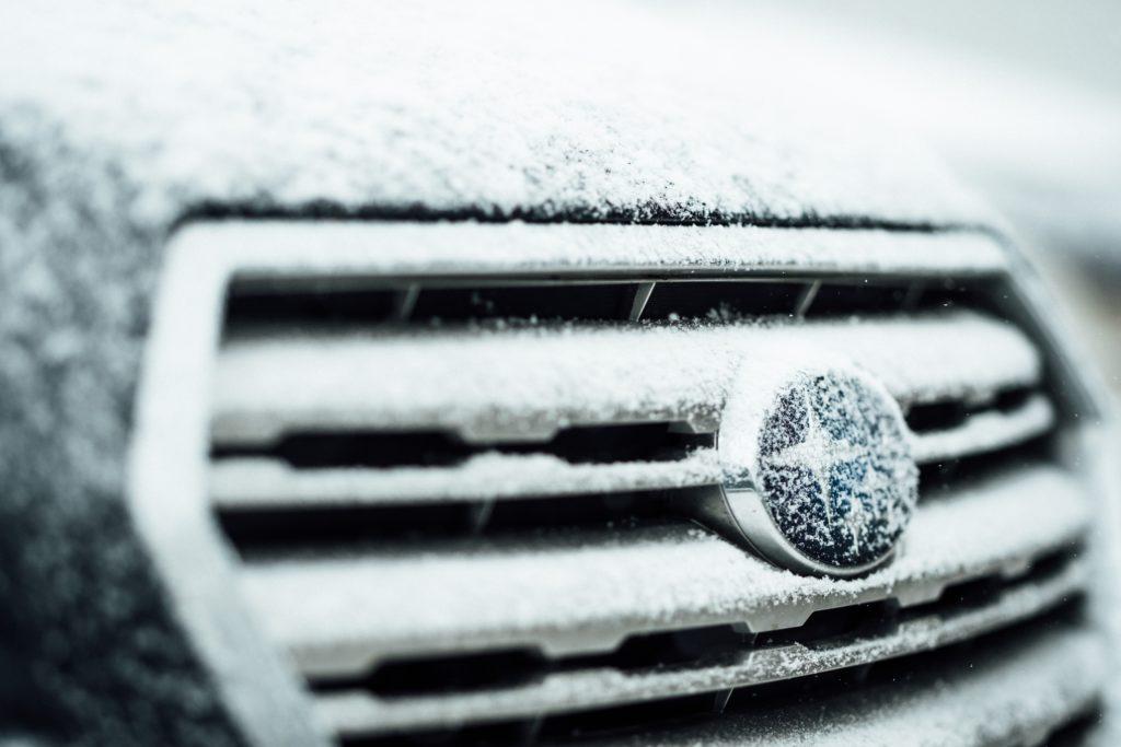 Subaru Logo on car