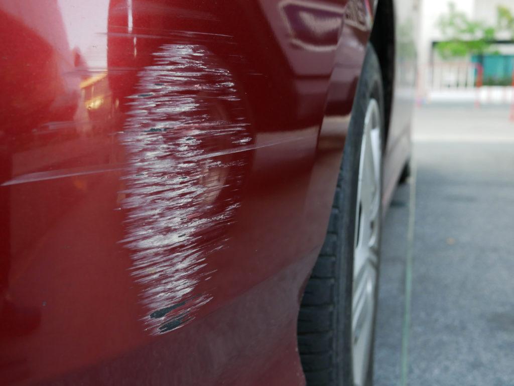 Subaru Bumper Scrape and Paint Transfer