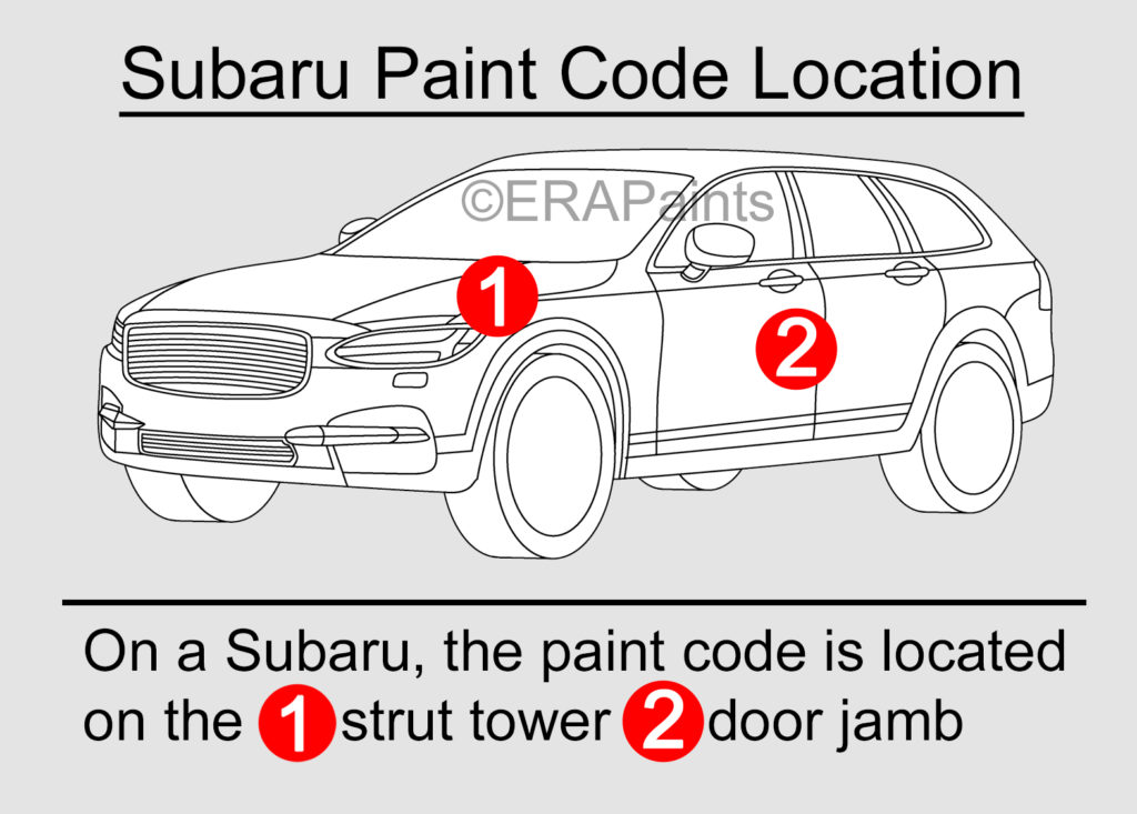 Subaru Paint Code Location