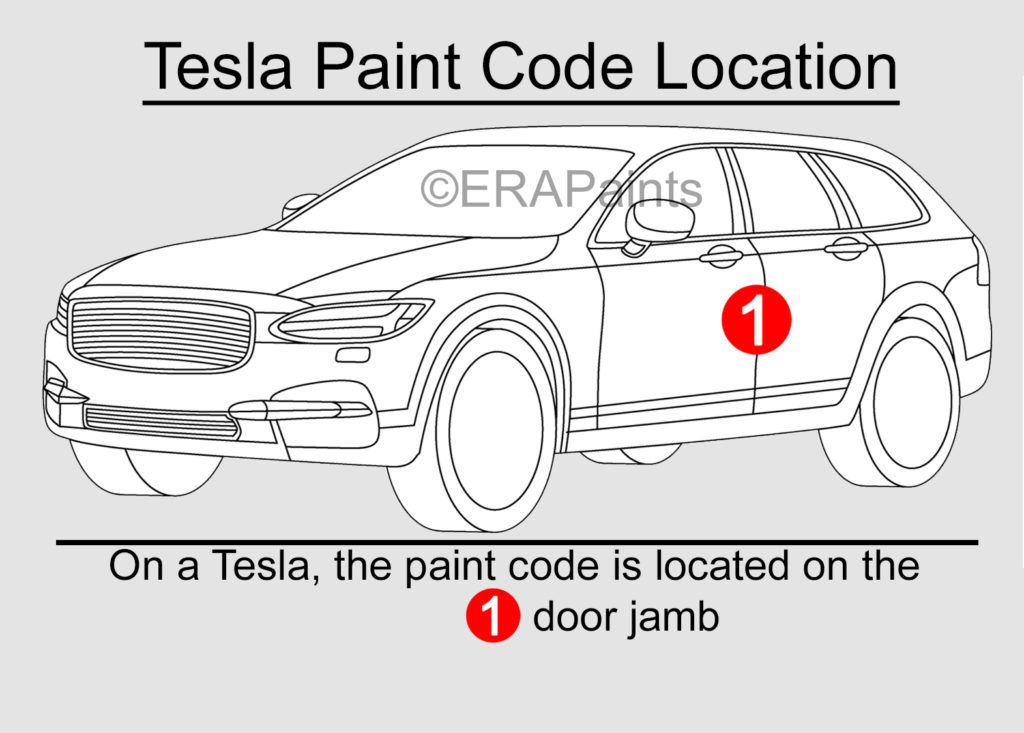 Tesla Paint Code Location