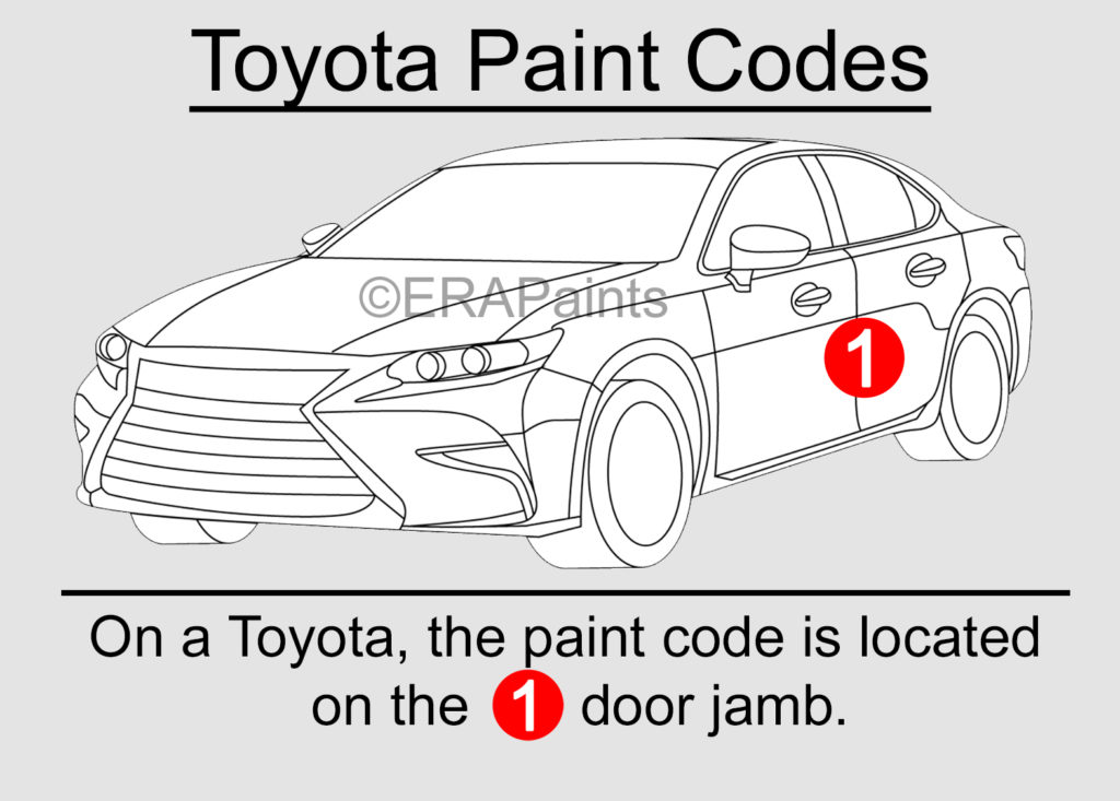 Toyota Paint Code Location