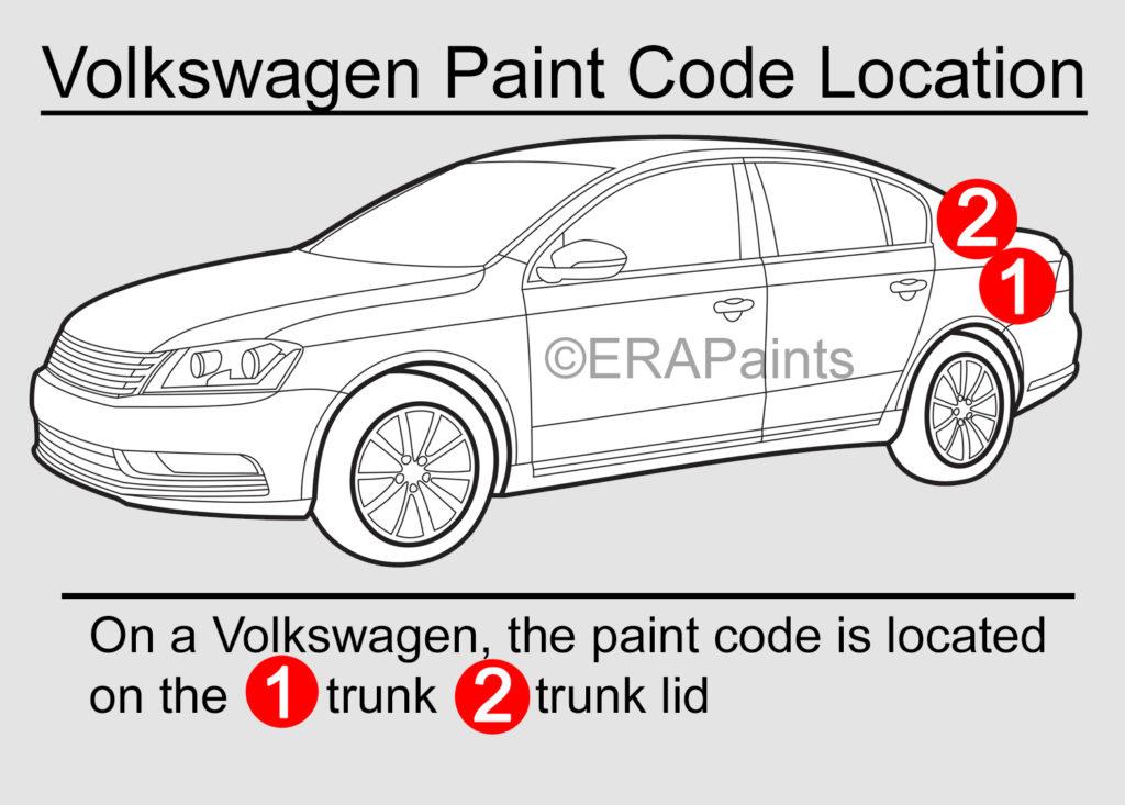Volkswagen Paint Code Location