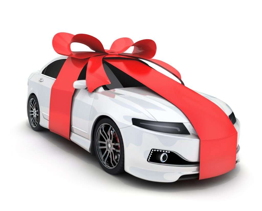 Toyota with red bow