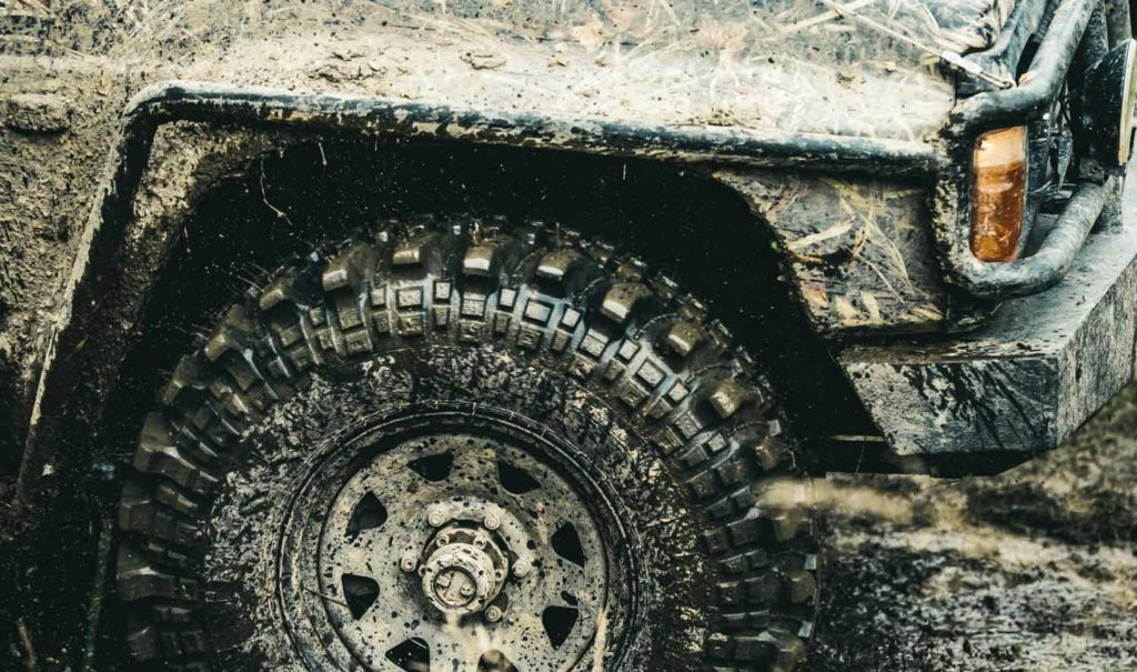 Jeep Dirty Offroad Vehicle