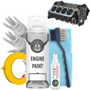 Black Engine Paint with Prep Kit
