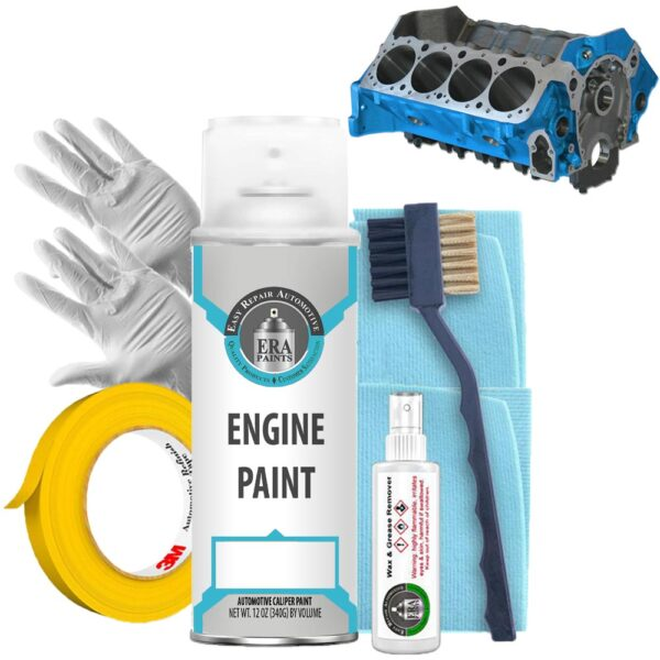 Blue Engine Paint with Prep Kit