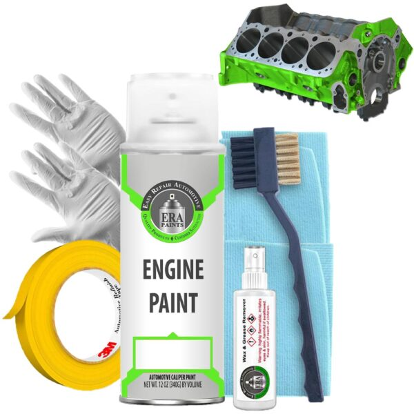 Green Engine Paint with Prep Kit