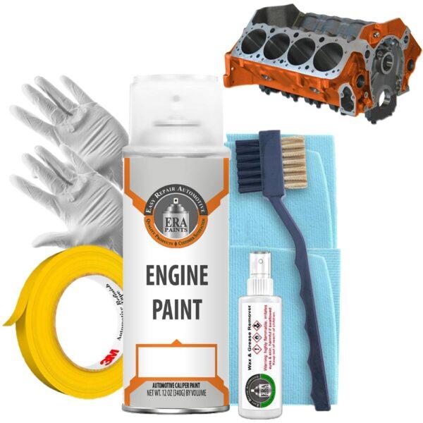 Orange Engine Paint with Prep Kit