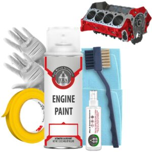 Red Engine Paint with Prep Kit