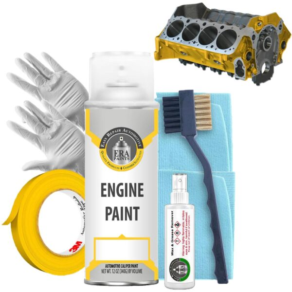 Yellow Engine Paint with Prep Kit