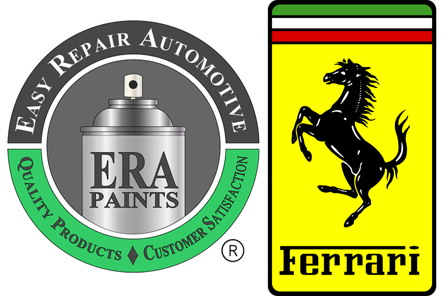 ERA Paints and Ferrari Logo