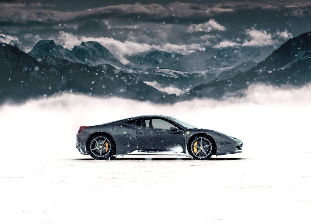 Ferrari in the Snow