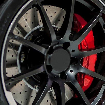 Red Brake Caliper