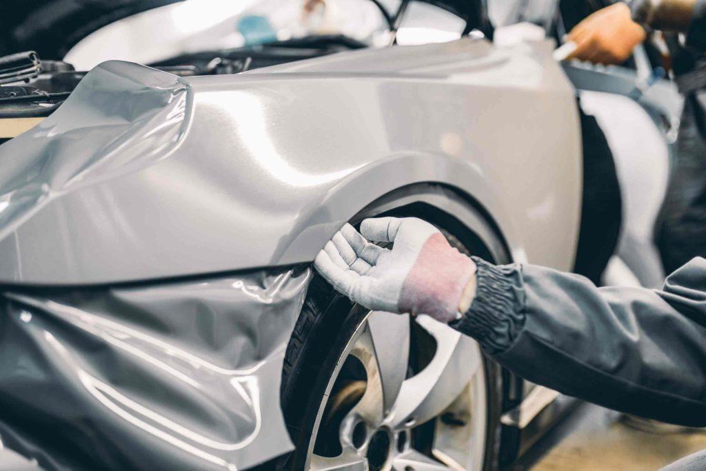 Audi Front Bumper Damage