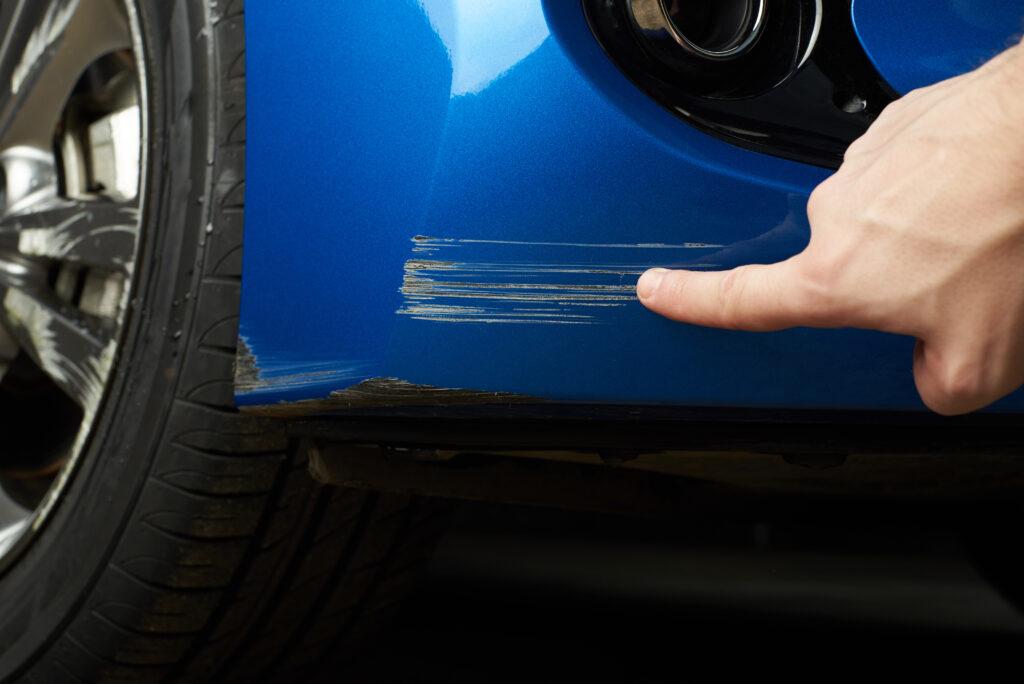 Saab Bumper Scratch