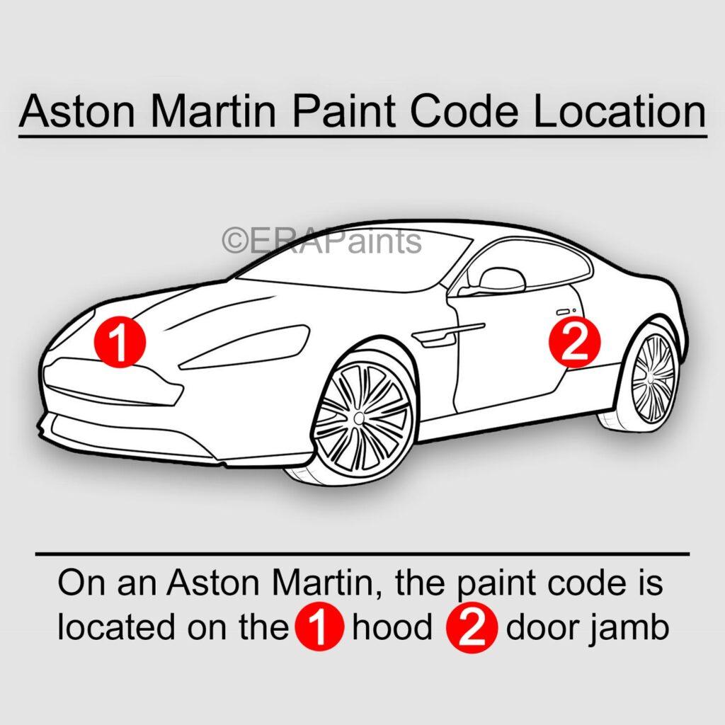 Aston Martin Paint Code Location
