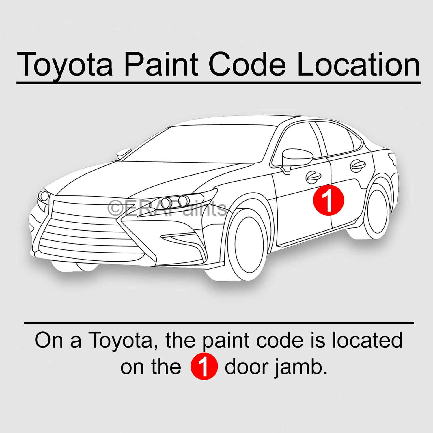 How To Find Your Toyota Paint Code Best Paint For Your Car Era Paints