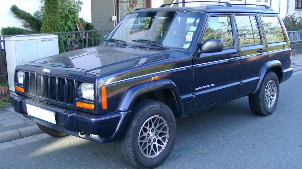 Blue Jeep Cherokee